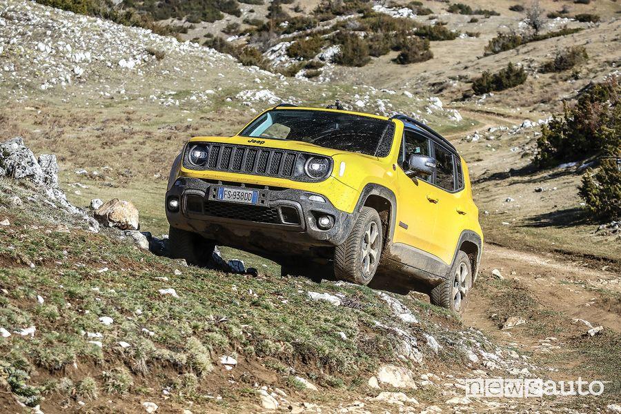 Jeep Renegade Trailhawk salita sullo sterrato