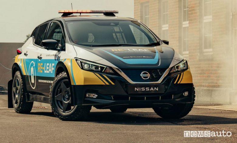 Corrente 230 volt dalla batteria dell'auto elettrica, arriva la Nissan Re-Leaf