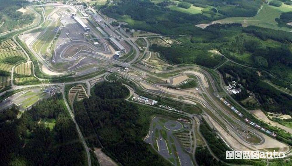 Vista aerea del tracciato del Nürburgring GP-Strecke