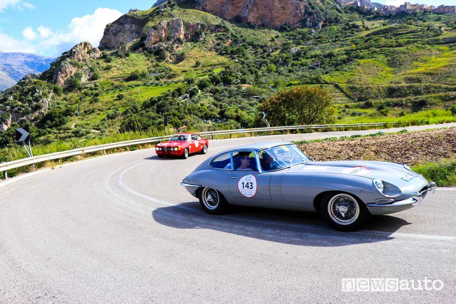 Bianchi/Urbani su Jaguar E Type del 1968 alla Targa Florio Classica 2020