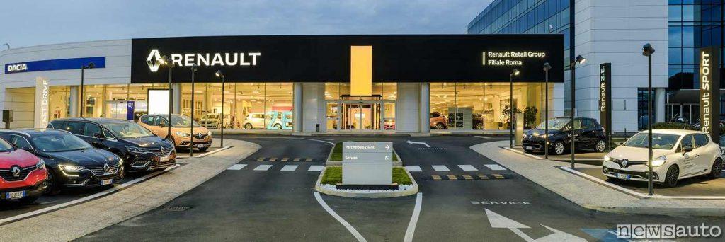 La concessionaria Renault RRG Roma