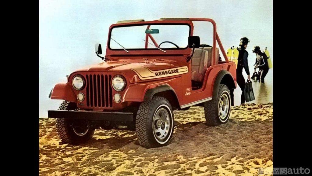 La jeep Renegade storica primo modello   (fuoristrada storico, auto storica)