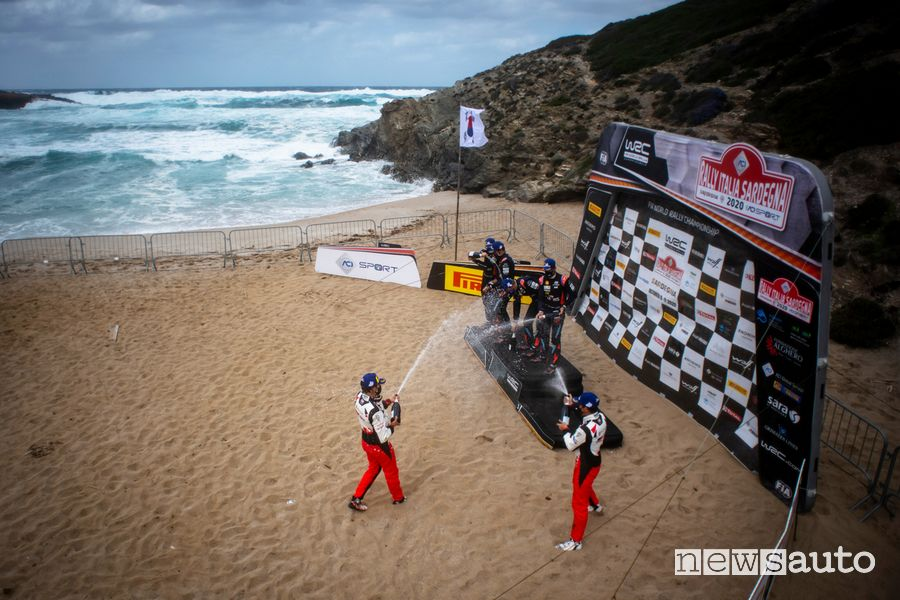 WRC podio Rally Italia Sardegna 2020