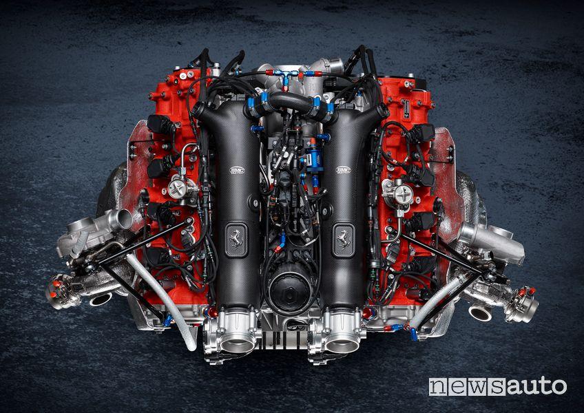 Motore V8 Biturbo Ferrari 488 GT Modificata