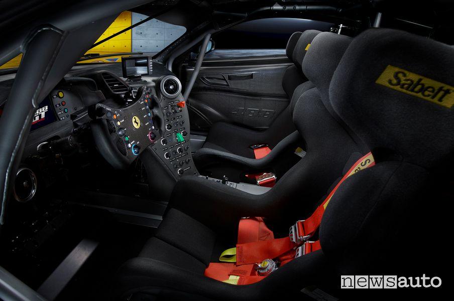Sedili da corsa abitacolo Ferrari 488 GT Modificata
