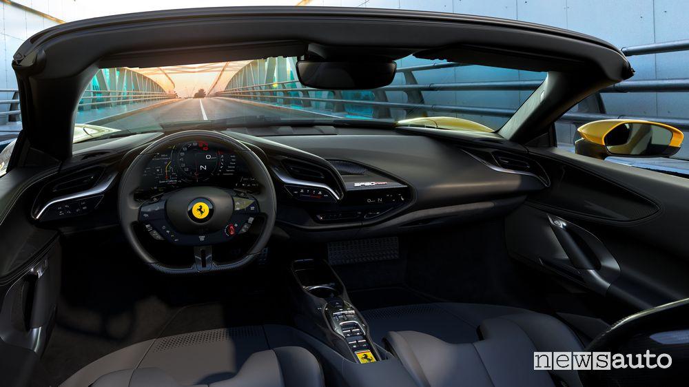 Plancia strumenti abitacolo Ferrari SF90 Spider