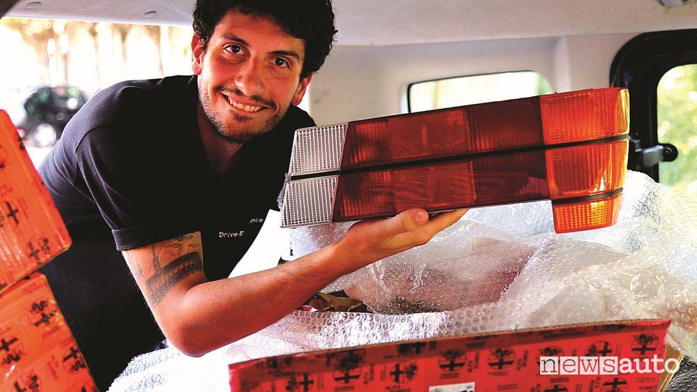 Davide Cironi ed i fari dall'Alfa Romeo 75