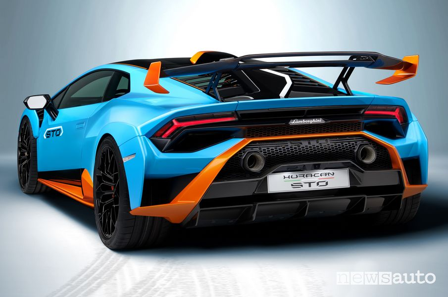 Vista posteriore Lamborghini Huracán STO