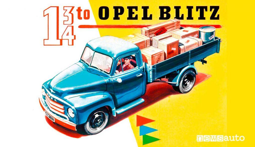Opel Blitz furgone cassone pubblicità del 1952