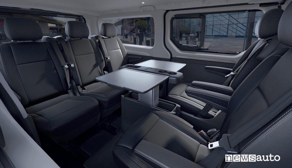 Spazio Business del Nuovo Renault Trafic SpaceClass 2021 per trasporto passeggeri VIP