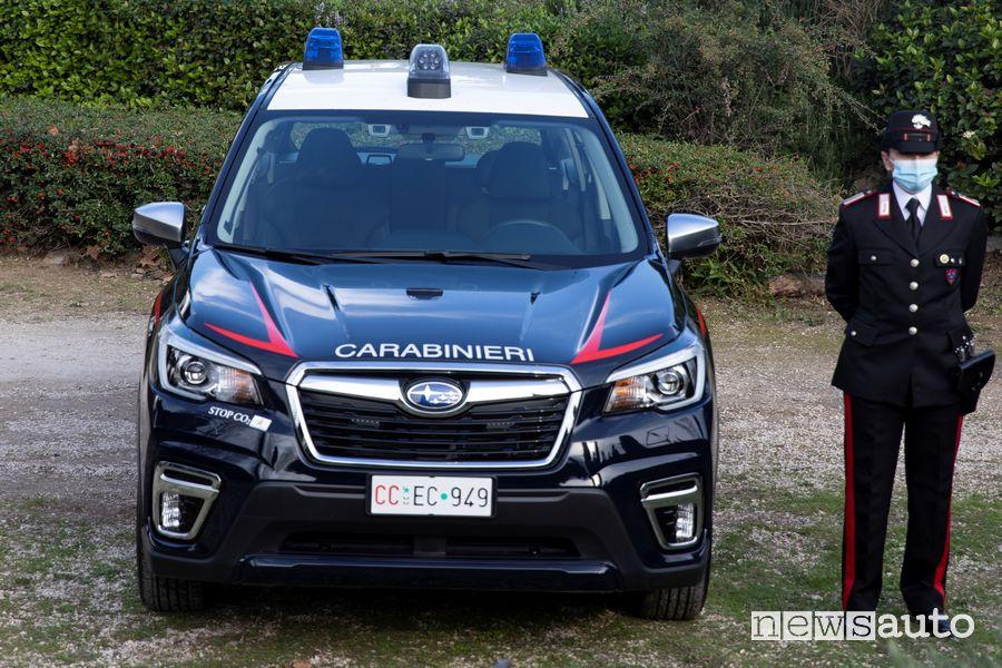 Subaru Forester -Boxer ibrida ai Carabinieri