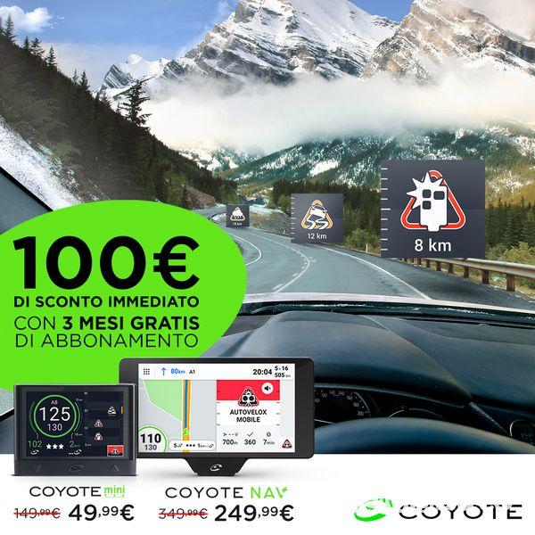 Offerta navigatore COYOTE, sconto di 100 euro