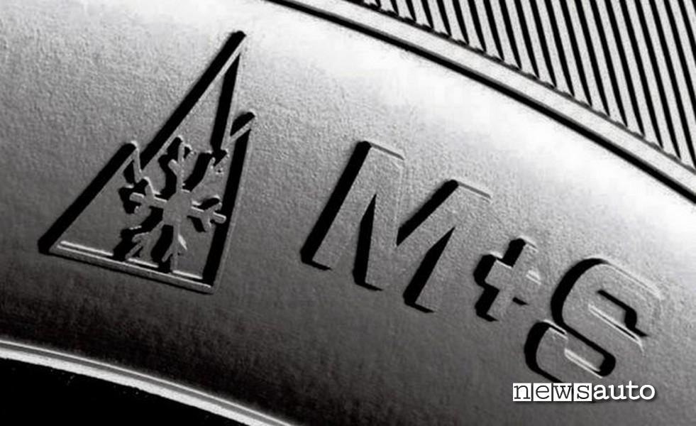 M+S fiocco di neve, cosa significa la marcatura m+s sugli pneumatici