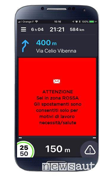 Allerta zona rossa in tempo reale sull'App COYOTE