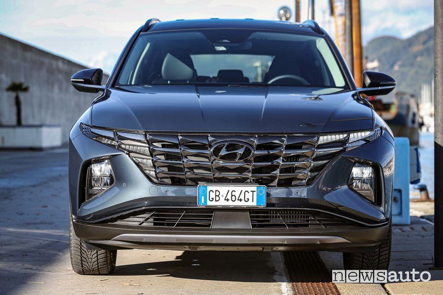 Frontale nuova Hyundai Tucson Hybrid
