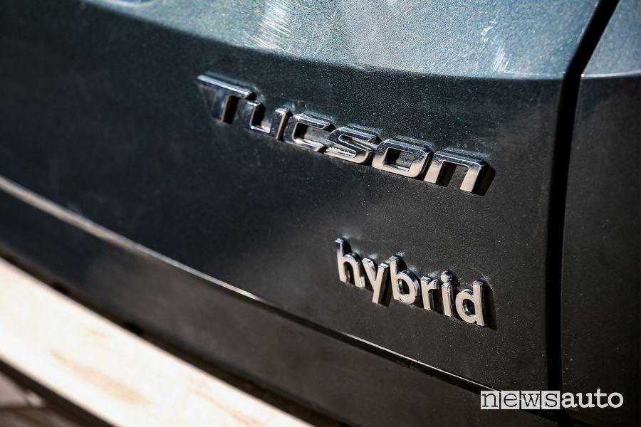 Badge portellone posteriore nuova Hyundai Tucson Hybrid