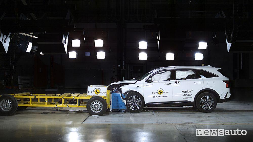 5 stelle per il SUV Kia Sorento nei crash test Euro NCAP
