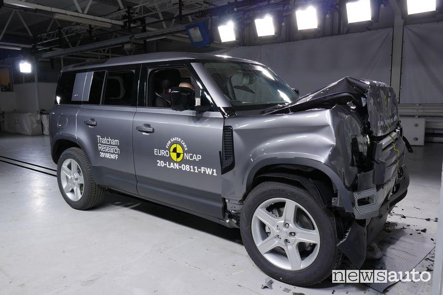 5 stelle per il 4x4 Land Rover Defender nei crash test Euro NCAP