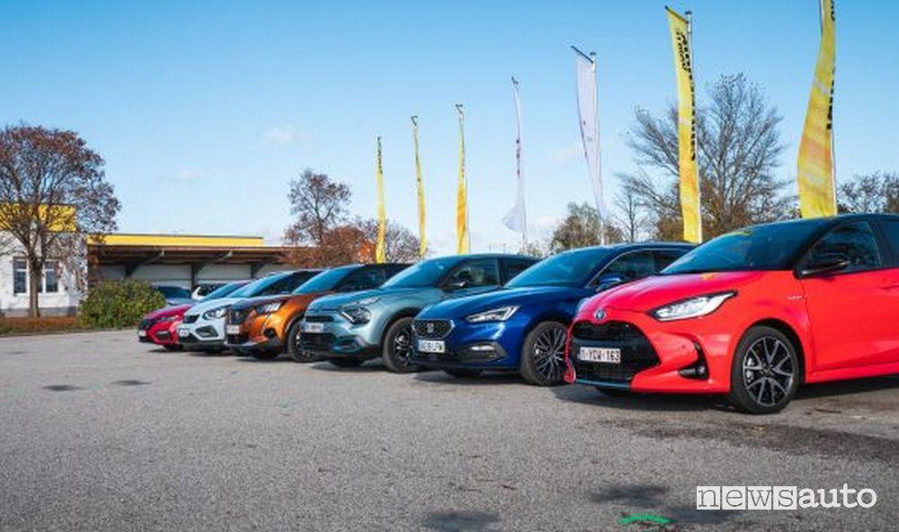 7 auto finaliste per il premio Autobest 2021: Citroen C4 , Dacia Sandero , Honda Jazz , Peugeot 2008 , Seat Leon , Skoda Octavia e Toyota Yaris