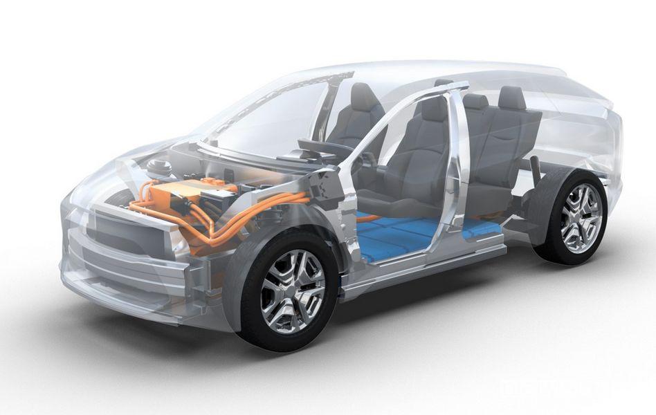 L'auto elettrica Toyota è un SUV di medie dimensioni