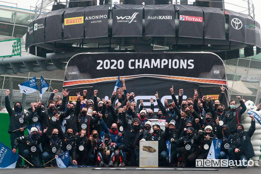 Hyundai Motorsport Campione del Mondo Costruttori WRC al Rally di Monza 2020