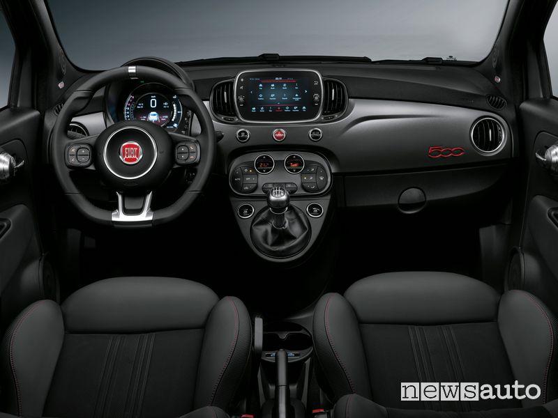 Plancia strumenti abitacolo Fiat 500 Sport