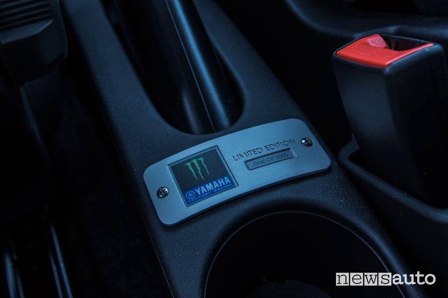 Targhetta serie limitata abitacolo Abarth 595 Monster Energy Yamaha