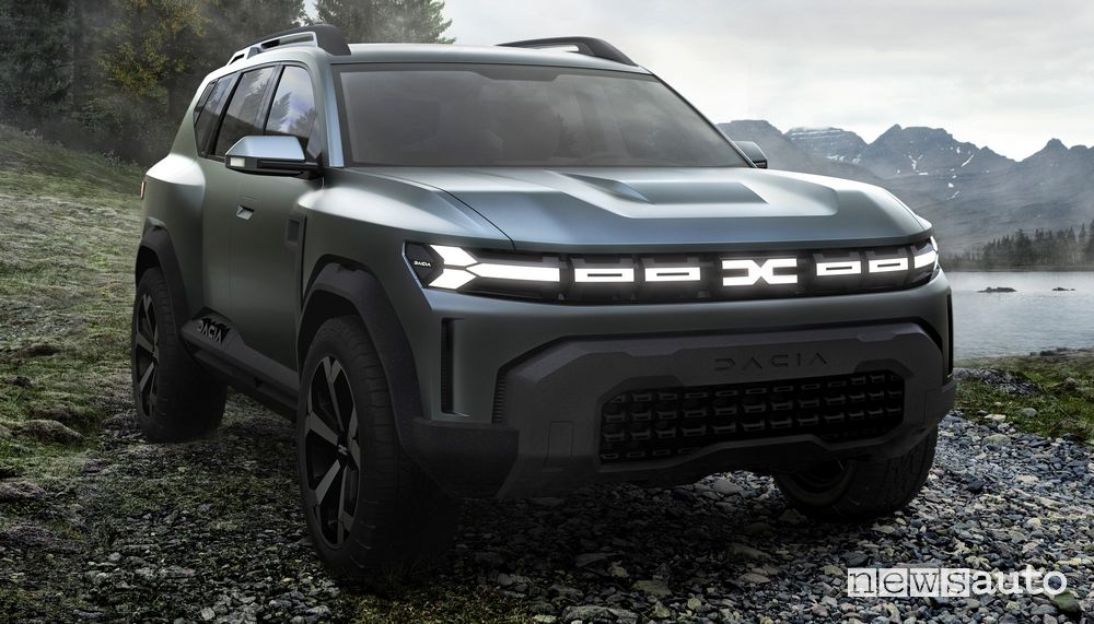 Vista di profilo Dacia Bigster Concept
