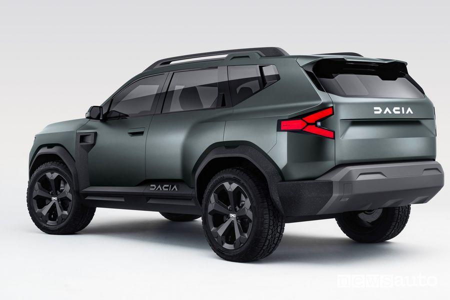 Vista posteriore Dacia Bigster Concept