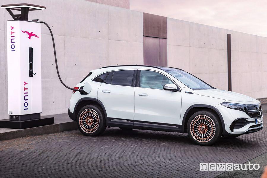 Mercedes-Benz EQA Edition 1 ricarica rapida Ionity