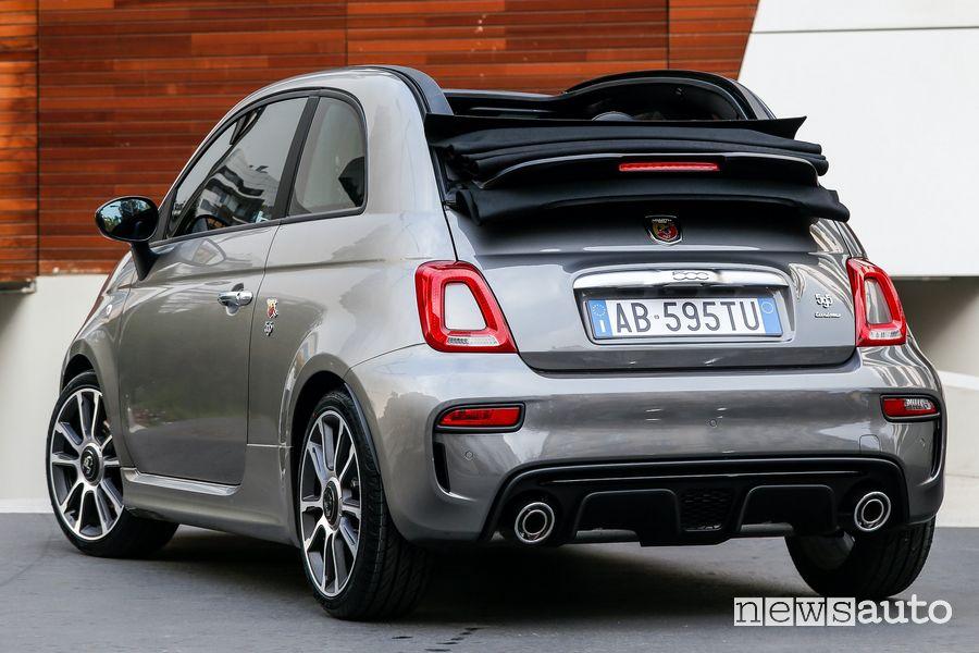 Vista posteriore Abarth 595 Turismo cabrio