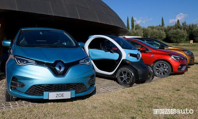 Renault Zoe, Twizy, Clio e Captur E-Tech