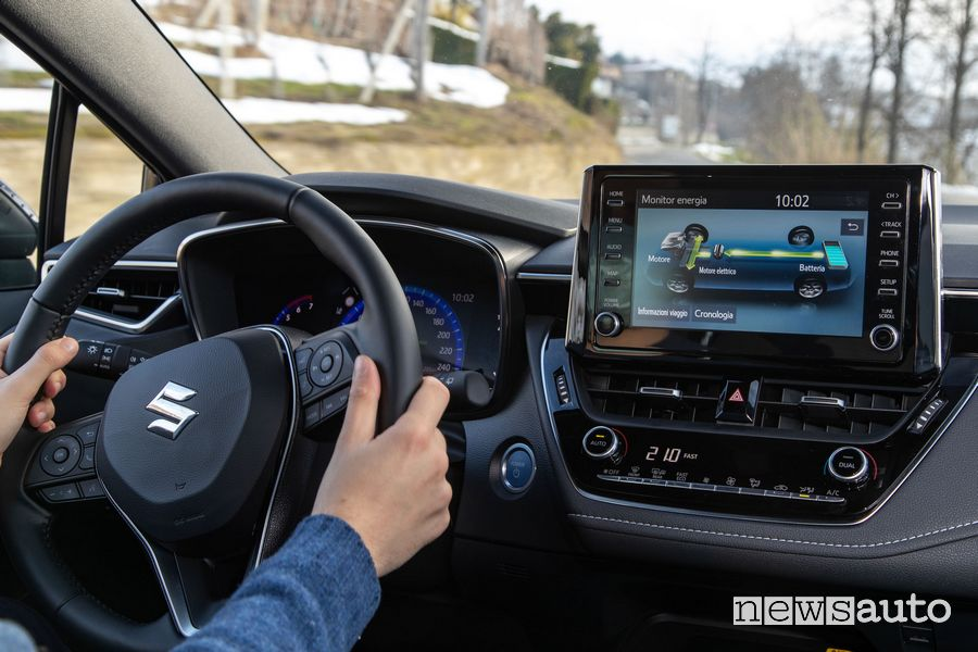 Info carica batteria infotainment Suzuki Swace Hybrid