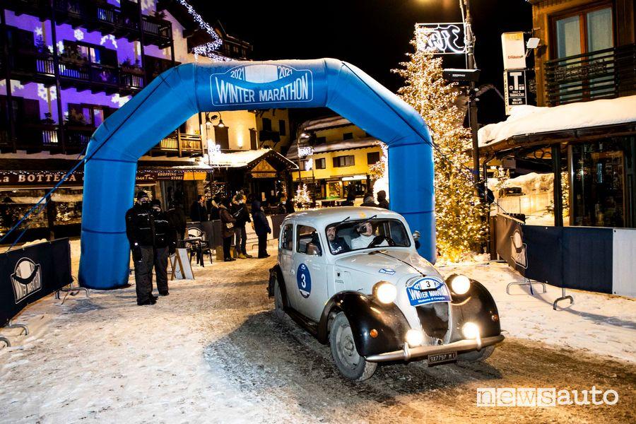 Equipaggio Bellini-Tiberti (Fiat 508 C 1937) vincitori della Winter Marathon 2021