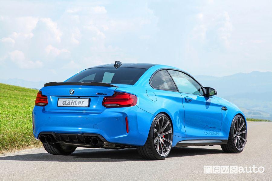 Vista posteriore dÄHLer BMW M2 CS DCL
