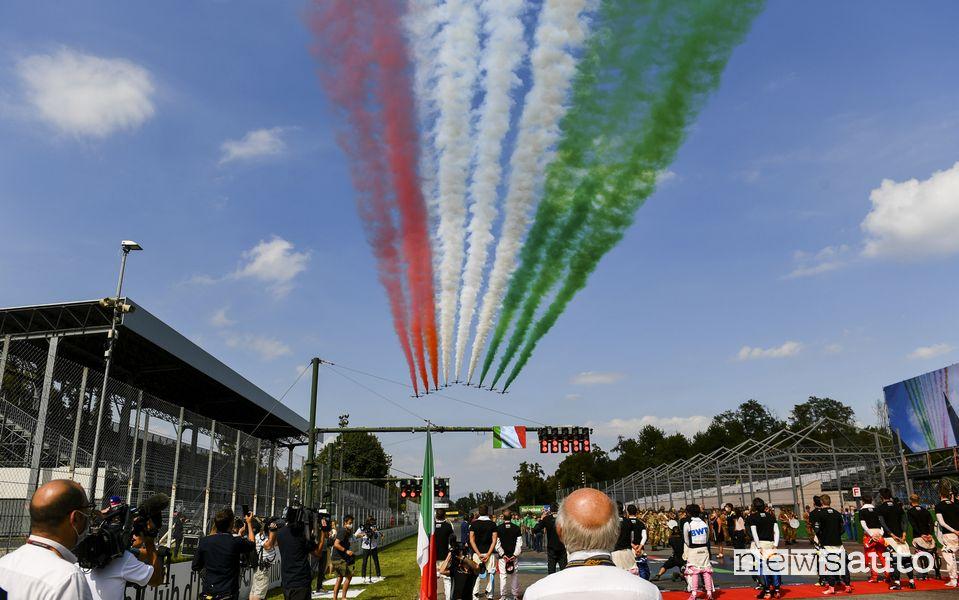 f1 2021 Gp Italia Monza frecce tricolori