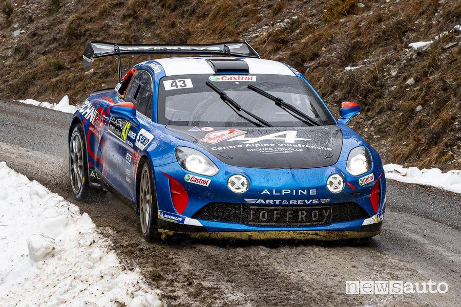Alpine A110 Rally al Rally di Montecarlo 2021