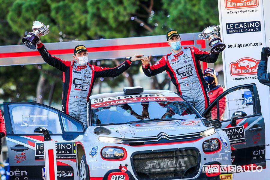 Tripletta Citroën al Rally di Montecarlo 2021 nel WRC3