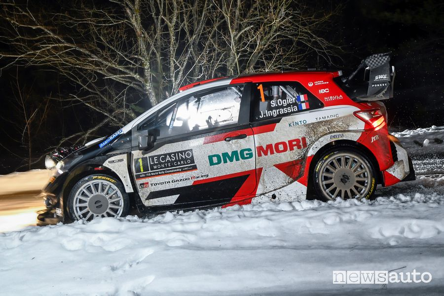 Rally di Montecarlo 2021, dominio Toyota Sebastien Ogier