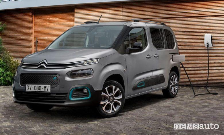 Citroën ë-Berlingo elettrico in ricarica