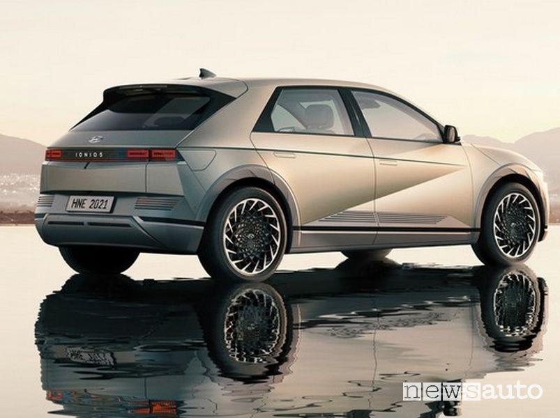 Vista posteriore nuova Hyundai Ioniq 5