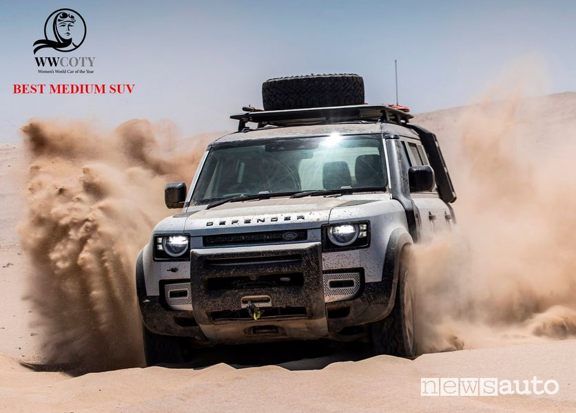Land Rover Defender miglior SUV medio Women's World Car of the Year 2021