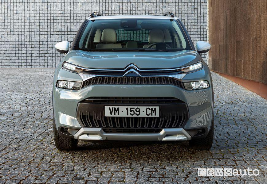 Vista anteriore nuovo Citroën C3 Aircross