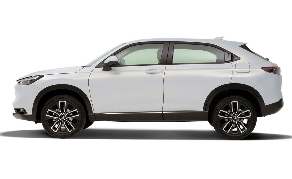 Vista laterale Honda HR-V e:HEV 2021