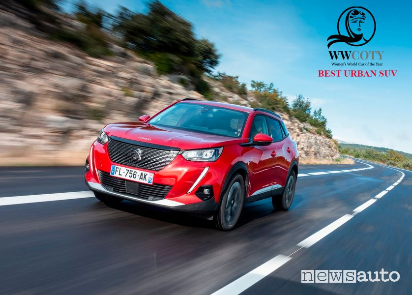 Peugeot 2008 miglior SUV urbano Women's World Car of the Year 2021