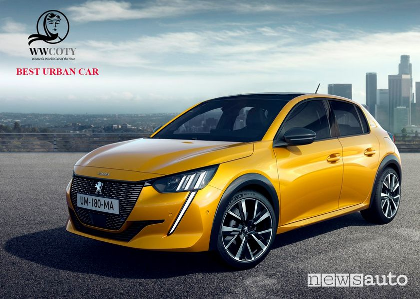 Peugeot 208 miglior citycar Women's World Car of the Year 2021