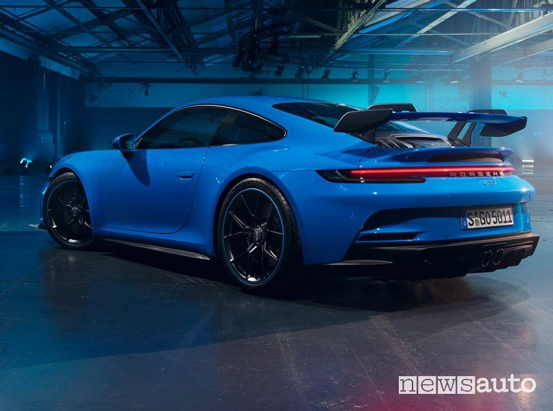 Vista posteriore nuova Porsche 911 GT3