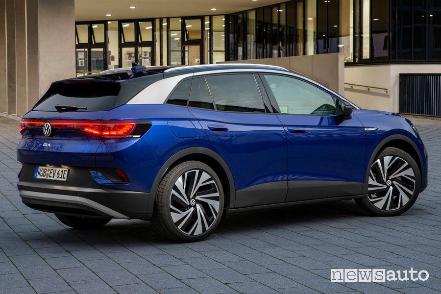 Vista posteriore Volkswagen ID.4 1ST
