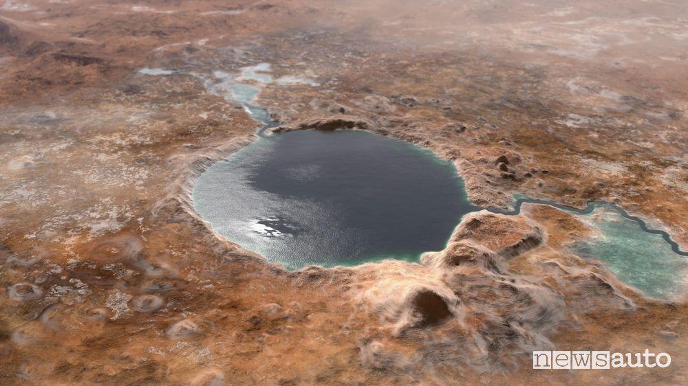 Il cratere Jezero era un lago antico su Marte