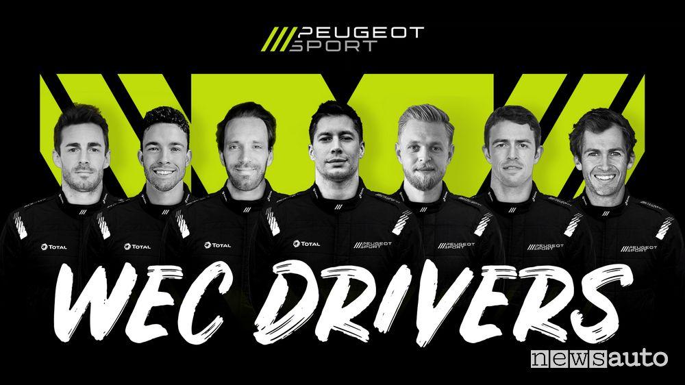 Piloti Peugeot nel WEC e alla 24 Ore di Le Mans 2022